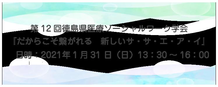 第12回徳島県医療ソーシャルワーク学会のご案内